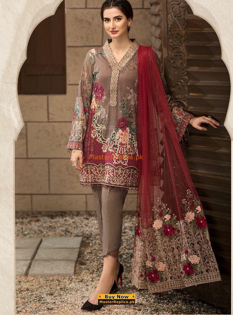 BAROQUE luxury Petal De Rose Eid LaBAROQUE luxury Petal De Rose Eid Lawn Collection Replica wn Collection Replica