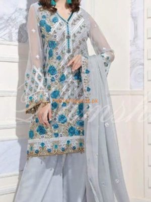 DESIGNER Latest Embroidered Festive Net Collection Replica