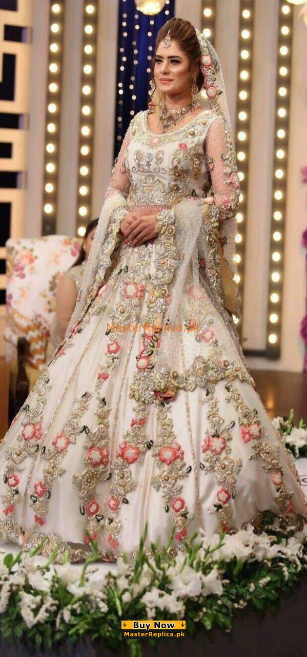 ELAN Luxury Embroidered Bridal Net Collection Replica
