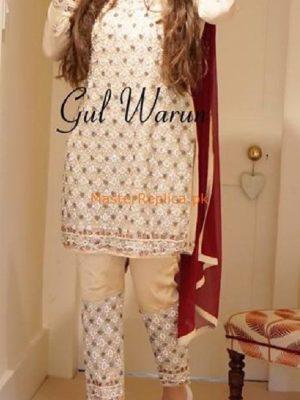 GUL WARUN Luxury Embroidered Chiffon Eid Collection Replica