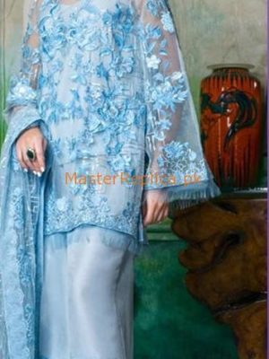 HONEY WAQAR Luxury Embroidered Organza Collection Replica
