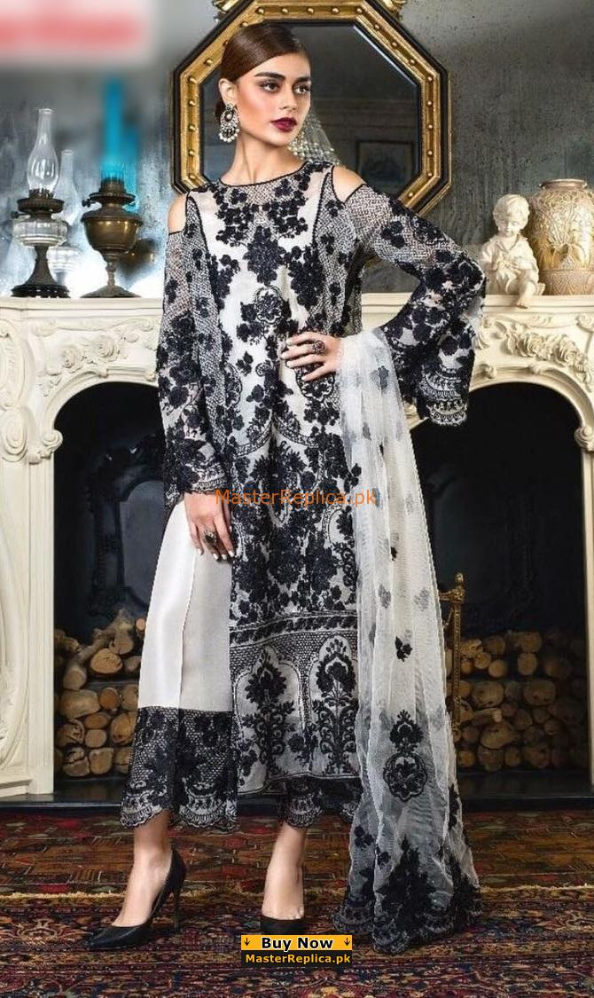 HONEY WAQAR Luxury Embroidered Eid Net Collection Replica