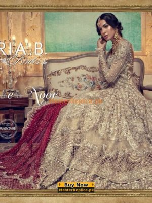 MARIA B Luxury Embroidered EX-129 Bridal Chiffon Collection Replica
