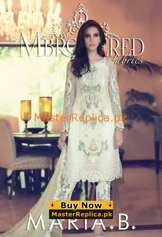 MARIA B Latest Embroidered Chiffon Collection Replica 2018