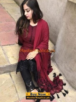 MARIA B Latest Embroidered Eid Lawn Collection Replica 2018