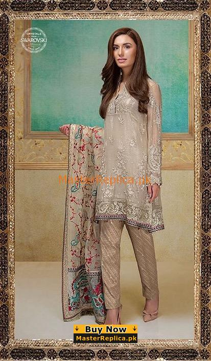 MARIA B Luxury Embroidered Eid Chiffon Collection Replica