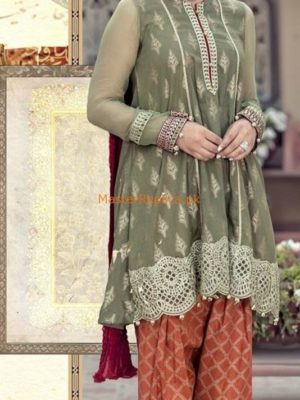MARIA B Luxury Embroidered Chiffon Eid Collection Replica