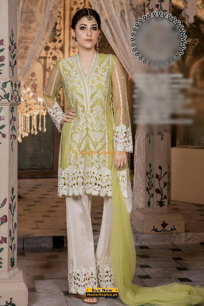 MARIA B Luxury Embroidered Net Collection Replica 2018