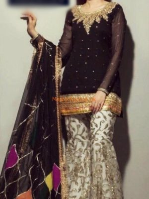 ROZINA MUNIB Luxury Embroidered Chiffon Eid Collection Replica