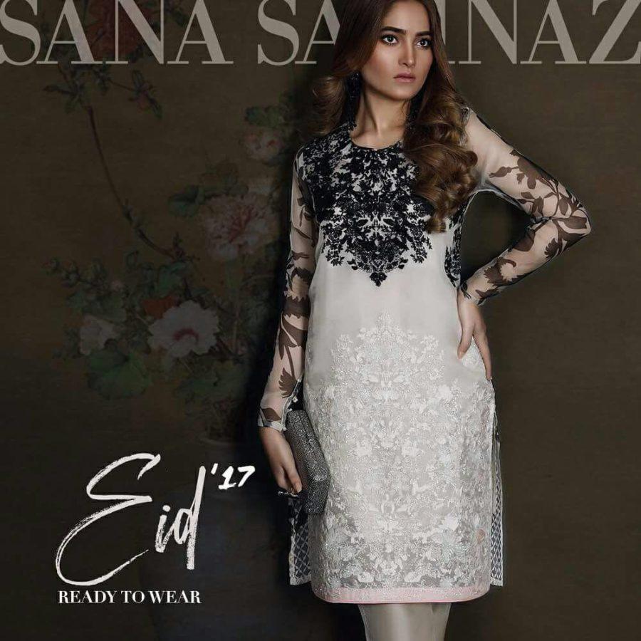 SANA SAFINAZ Luxury Embroidered Organza Collection Replica