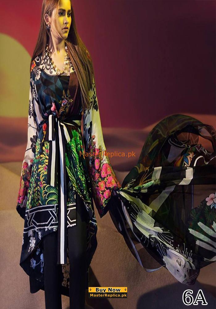 SANA SAFINAZ Luxury Festive Printed Silk Collection Replica