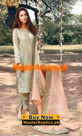SERENE Luxury Embroidered Chiffon Collection Replica 2018