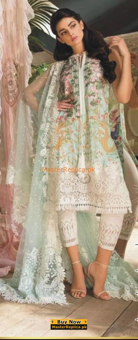 SOBIA NAZIR Luxury Embroidered 2-A Lawn Collection Replica