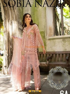 SOBIA NAZIR Luxury Embroidered 6-A Net Collection Replica