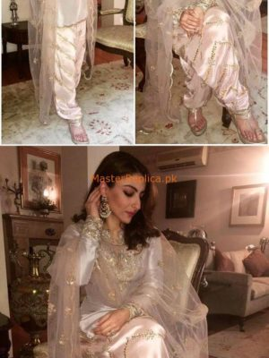 SOHA ALI Luxury Latest Embroidered Silk Collection Replica