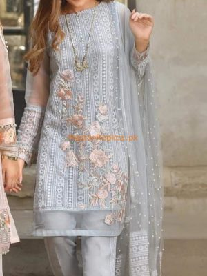 THREADS Latest Festive Embroidered Chiffon Collection Replica