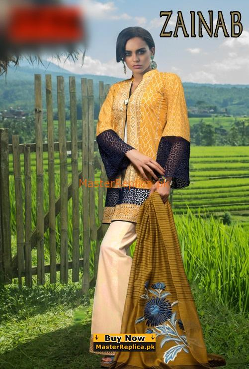 ZAINAB CHOTTANI Latest Embroidered Summer Lawn Collection Replica