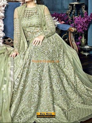ZOYA Latest Embroidered Bridal Wear Net Collection Replica