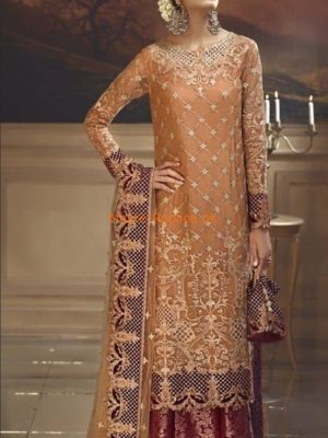 CLuxury Rustic Sunset Embroidered Wedding Collection Net Replica