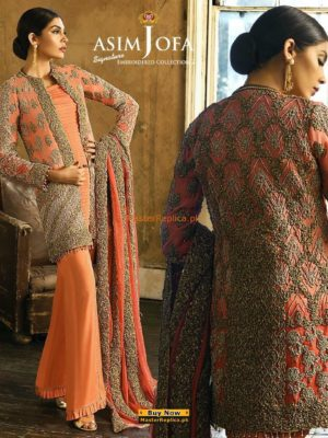 ASIM JOFA Luxury Embroidered Aj-3B Chiffon Collection Replica