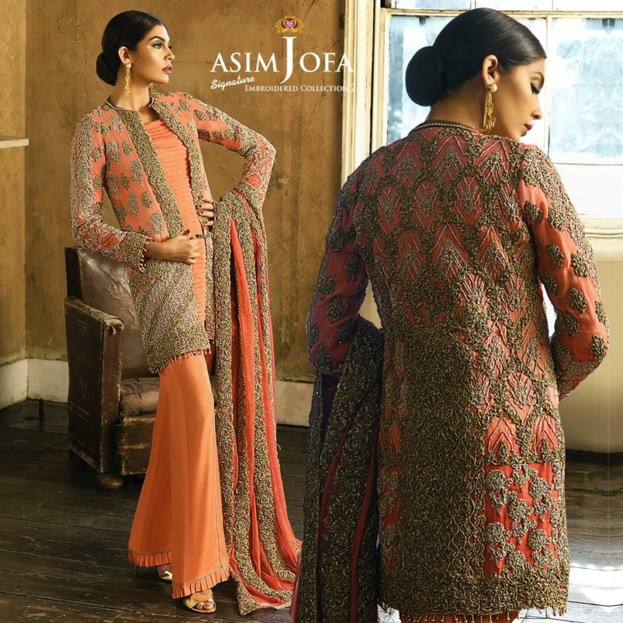 ASIM JOFA Luxury Embroidered Aj-3B Chiffon Collection Replica