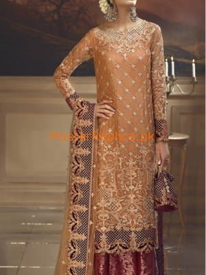 ANAYA Luxury Rustic Sunset Embroidered Wedding Collection Chiffon Replica