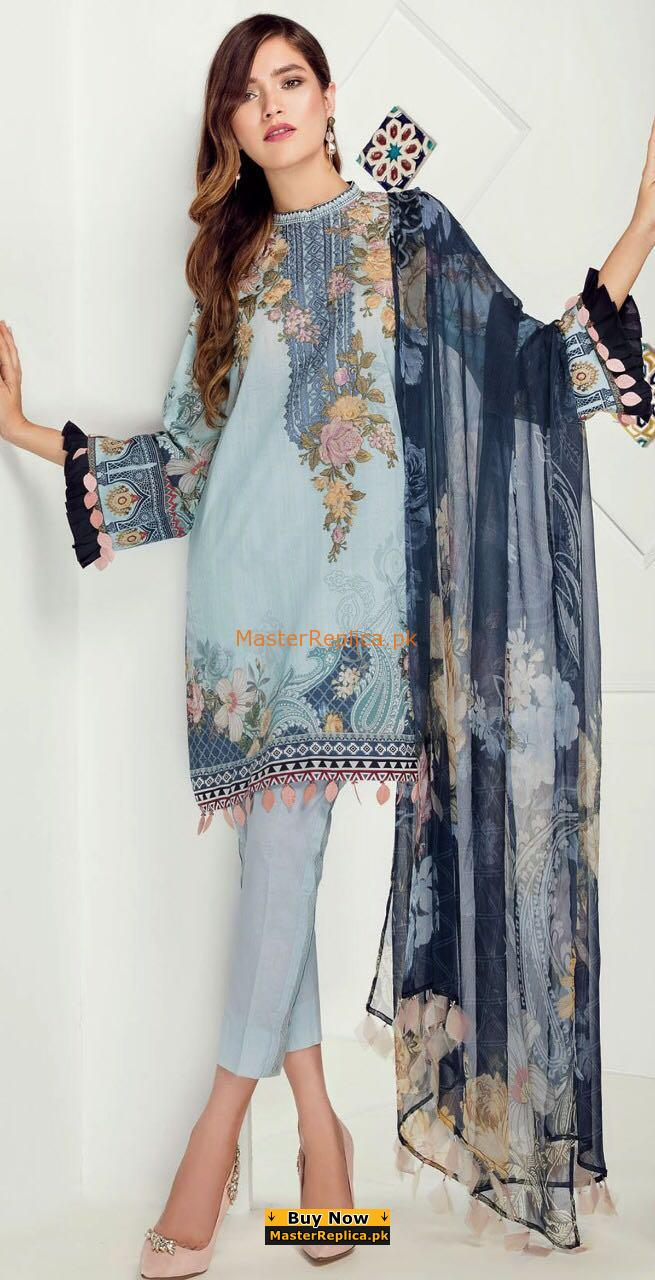 BAROQUE Luxury Embroidered Lawn Collection Replica 2018