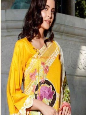Charizma Luxury Embroidered 2pc Linen Collection Replica