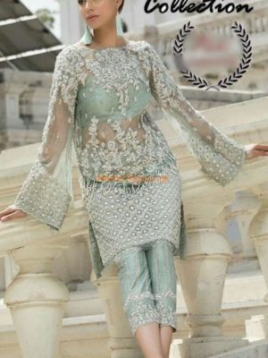 ERUM KHAN Latest Embroidered Net Collection Replica