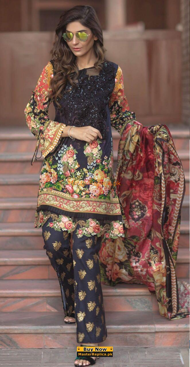 FIRDOUS Luxury Latest Embroidered linen Collection Replica