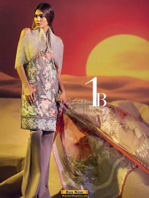 SANA SAFINAZ Luxury Embroidered Silk&Chiffon Collection Replica