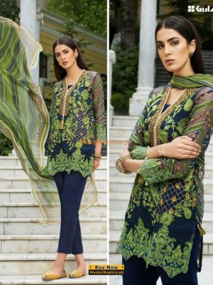 GUL AHMED Luxury Latest Embroidered Linen Collection Replica