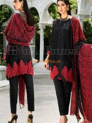GUL AHMED Latest Embroidered Chiffon Collection Replica 2018