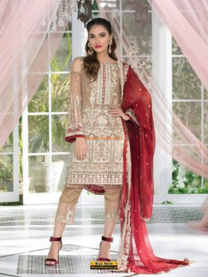 GULAAL Luxury Embroidered Chiffon Collection Replica 2018