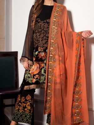 Gul Warun Luxury Embroidered Chiffon Collection Replica