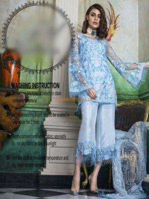 HONEY WAQAR Luxury Embroidered Chiffon Collection Replica