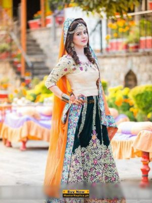 IRFAN AHSAN Luxury Embroidered Chiffon&Silk Bridal Collection Replica