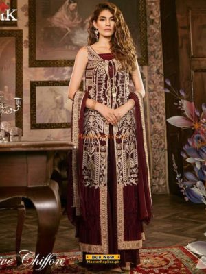 IZNKIK Latest Embroidered Festive Chiffon Collection Replica