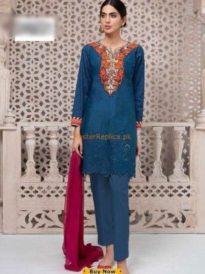 Maria B Latest Embroidered Linen Collection Replica 2018