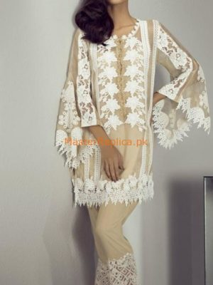 MINA HASSAN Luxury MHP-1056 Embroidered Net Collection Replica