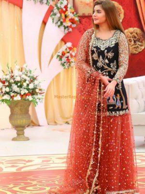 NIDA Luxury Embroidered Wedding Collection Chiffon Replica