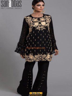 SANA ABBAS Luxury Embroidered Micro Velvet Collection Replica