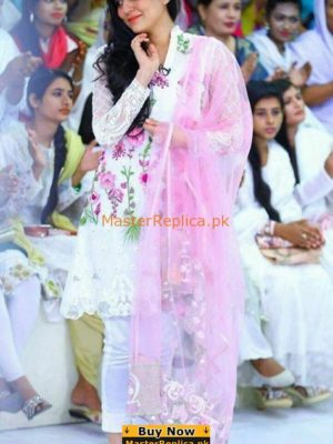 SANAM BALOCH Luxury Embroidered Net Collection Replica