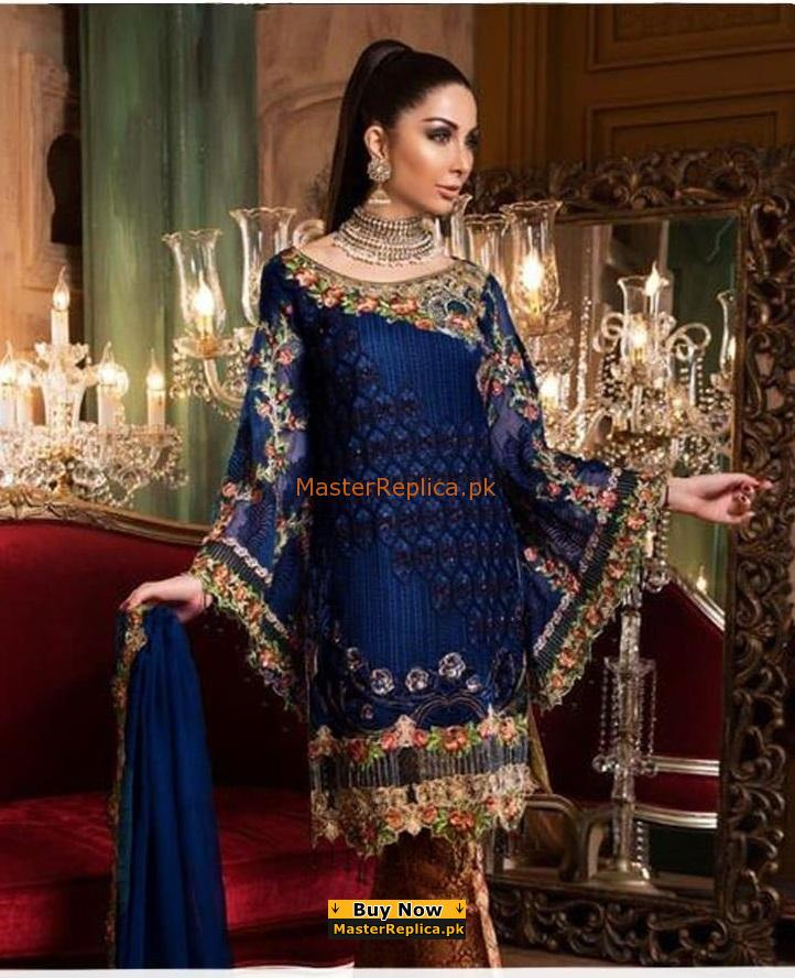 ZAHRA AHMED Luxury Embroidered Latest Linen Collection Replica