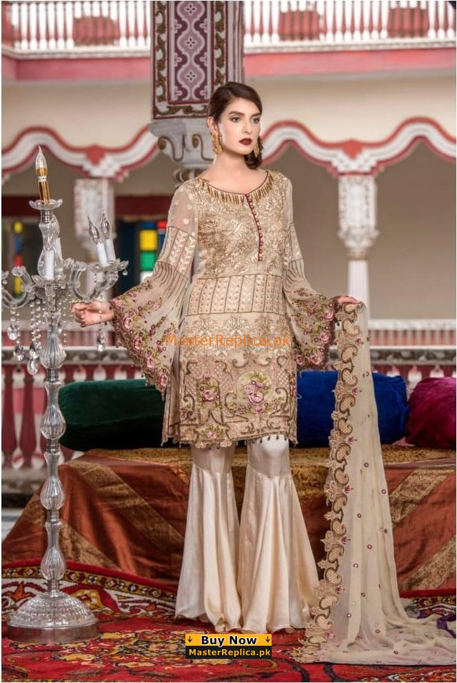 MARYAM'S Portrait Of Lady-M48 Luxury Embroidered Chiffon Collection Replica