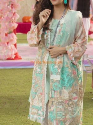 Rang Rasiya Luxury PM - 15 A Embroidered Lawn Collection Replica