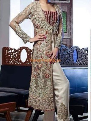ALIZA WAQAR Luxury Embroidered Wedding Collection Net Replica