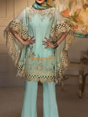 ANAYA LUXURY PARTY WEAR EMBROIDERED CHIFFON COLLECTION REPLICA