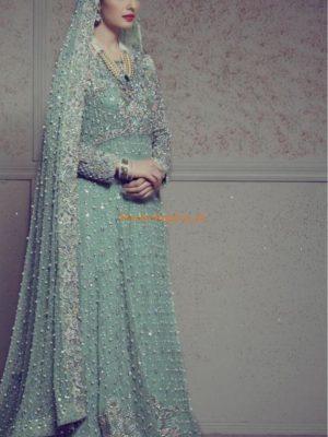 ANNUS ABRAR Luxury Embroidered Bridal Chiffon Collection Replica
