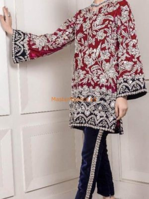 AROMA Luxury Embroidered Latest Velvet Collection Replica